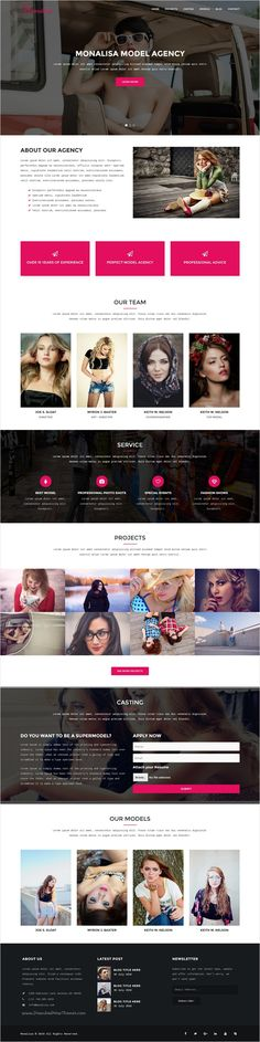 Monalisa is a Responsive #Model #Agency #Bootstrap #HTML5 Template #webdev with a unique design for any type of website, such as Creative Agencies, Photographers, Designers, Artists, Models, Personal Bloggers and Freelancers download now➩ https://themeforest.net/item/monalisa-model-agency-html5-template/18447152?ref=Datasata