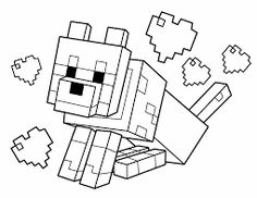 Resultado de imagem para minecraft colorir