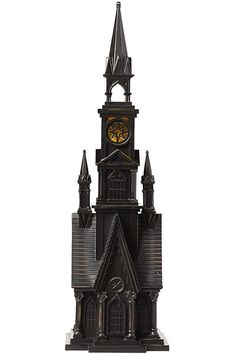 Inspired by Gothic architecture, this haunted church from #MarthaStewartLiving brings elegant authenticity to your collection of spooky #Halloween decorations.