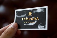 Creative Business, Card, Logo, Identity, and Tempora image ideas & inspiration on Designspiration Black Business Card, Business Card Logo, Business Card Design, Creative Business, Business Icon, Stationery Design, Branding Design, Branding Agency, Packaging Design