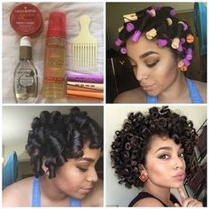 """""""By ▶️Heatless Curls◀️ Products used: ➡️ Argan Oil Style & Shine Foaming Mousse ➡️ Coconut Milk Serum ➡️ Pelo Natural, Natural Hair Tips, Natural Hair Journey, Natural Curls, Natural Hair Styles, Natural Hair Perm Rods, Perm Rod Set, Protective Hairstyles For Natural Hair, Relaxed Hairstyles"""