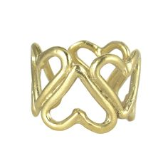 Gold Heart Ring Cuff