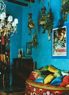 inspiring bohemian home decor | ... bohemian decor bohemian prints blog d g dolce gabbana eclectic decor