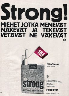 Old Finnish tobacco advert
