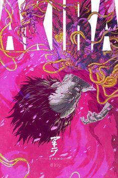 The Geeky Nerfherder: Cool Art: 'Akira' by Ash Thorp Akira Anime, 5 Anime, Anime Art, Tetsuo Shima, Akira Tetsuo, New Retro Wave, Arte Cyberpunk, Alternative Movie Posters, Animation