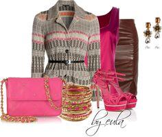 """Leather Skirt"" by eula-eldridge-tolliver on Polyvore"