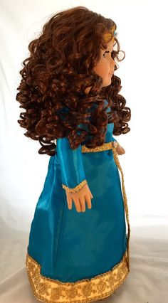 This Merida style doll is a new American girl doll that she has lovely freckles and beautiful blue eyes I purchased the doll re wigged her. Doll Wigs, Doll Hair, Merida, Custom American Girl Dolls, Beautiful Blue Eyes, Cat Doll, Freckles, Fashion Dresses, Vintage
