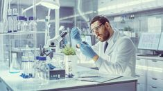 In a Modern Laboratory Research Scientist Conducts Experiments by Synthesising Compounds with use of Dropper and Plant in a Test Tube. Biotechnology Jobs, Regulatory Affairs, Starting A Company, Research Scientist, Clinical Research, Scientific Method, Life Science, Trials, Chemistry
