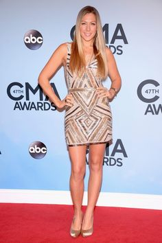 Southern California native Colbie Caillat shines at the 47th annual CMA Awards.