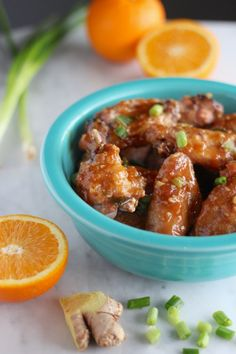 Sweet and Sticky Orange Ginger Wings (AIP) - these insanely flavorful Paleo chicken wings are created with an Asian-inspired orange, ginger, and garlic sauce that will have you licking your fingers! YUM! | fedandfulfilled.com