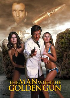 The Man With The Golden Gun Poster by on DeviantArt James Bond Movie Posters, Old Movie Posters, James Bond Movies, Old Movies, Great Movies, James Bond Style, Roger Moore, Bond Girls, Pin Up
