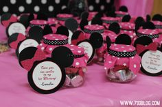 minnie mouse decorations From Baby Food Jars | Minnie Mouse 1st Birthday Party