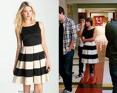 Rachel black & white stripe dress