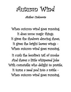 Fall Poems for Visualizing