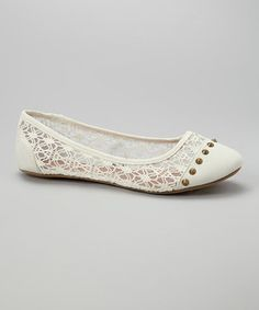 Another great find on #zulily! Ivory & Bone Spike Lindsay Flat by Twisted #zulilyfinds