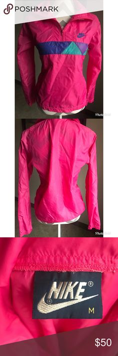 VTG Women's 90's NIKE Nylon pullover jacket Vintage 90s Nike nylon pullover sweater  It's sooo cute!!  Excellent condition!  No rips tears or stains  SZ M more of a S /M Vintage Jackets & Coats