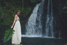 Waterfall elopement in Costa Rica by Costa Vida Photography