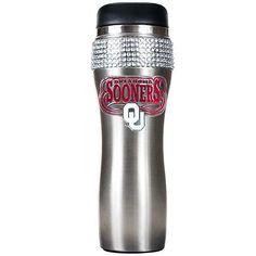 Great American Products Officially Licensed NCAA 14 oz. Stainless Steel Bling Travel Tumbler - Oklahoma Sooners