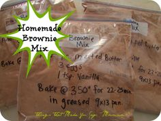 "Things that make you say: ""Mmmmm""!: EASY Homemade Brownie Mixes"
