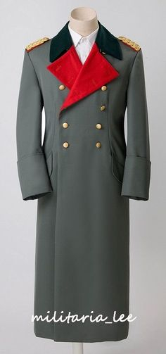 WW2 German Repro Heer General Tricot/Gabardine Overcoat All Sizes