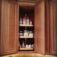 upper cabinet lazy susan—storage solution