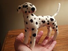 Artist Needle Felted Dalmation Dog Sculpture  Pippy by LaCharmour, $95.00
