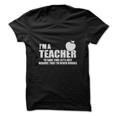 Im a Teacher Tshirt - #candy gift #small gift. TRY => https://www.sunfrog.com/LifeStyle/Im-a-Teacher-Tshirt.html?68278