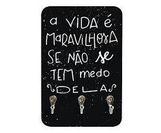 Porta-Chaves A Vida É Maravilhosa - 14x21cm