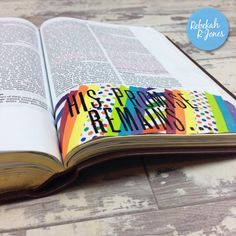 Washi Tape Idea - Bible Art Journaling Challenge Week 19 - Rebekah R Jones Scripture Art, Bible Art, Bible Study Journal, Art Journaling, Prayer Journals, Journal Art, Simple Artwork, Faith Bible, Illustrated Faith