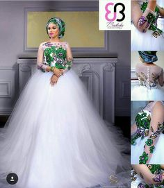 The year 2016 is bringing in so many mouth-watering trends in the wedding industry and we are amazed by the enchanting silhouette the bridal fashion designers are creating. For starters,… Latest African Fashion Dresses, African Print Dresses, African Dresses For Women, African Women, Nigerian Fashion, Ghanaian Fashion, African Prints, African Traditional Wedding Dress, Traditional Wedding Attire