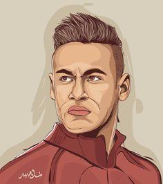 Illustration on Behance Real Madrid Wallpapers, Joker Wallpapers, Santa Claus Clipart, Infographic Video, Neymar Jr, Neymar Football, Egypt Art, One Piece Manga, Portrait Illustration