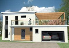 Maison contemporaine avec toit plat Maisons Vestale