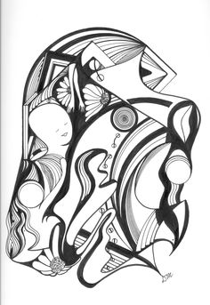 Pen and Ink Abstract Drawing