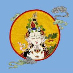 White Tara by Vajra Thangka 100% pure silk and hand stitched, artist Urgyen Sonam
