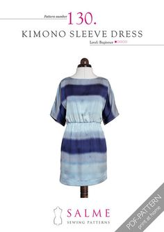 One of our most popular patterns of all time, this dress is a dream to sew. Easy kimono sleeves mean you don't have to ease them in. The boatneck neckline is fi