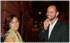 Patrizia Ercole con il poeta brasiliano Cassio