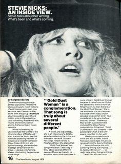 an interesting news article praising Stevie    ~ ☆♥❤♥☆ ~    August 1979