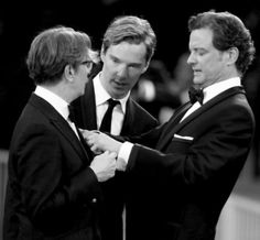 Bennedict cumberbatch, Gary oldman & Colin Firth
