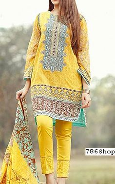 Yellow Lawn Suit | Buy Edenrobe Dresses