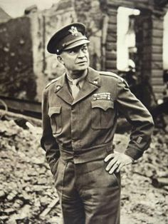 Dwight D. Eisenhower surveying ruined Berlin, June 1945 (b/w photo). Another leader that led by example. American Presidents, Us Presidents, American History, Dwight Eisenhower, United States Army, Military History, Military Post, Us Army, World War Two