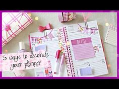 5 AFFORDABLE WAYS TO DECORATE YOUR PLANNER   #PlanningWithBelinda - YouTube