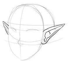 """How to Draw Pointed """"Elf"""" Ears - Draw Central Elf Drawings, Art Drawings Sketches Simple, Cool Drawings, Fantasy Drawings, How To Draw Ears, Elf Art, Drawing Base, Drawing Step, Paper Drawing"""