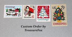 Reserved Custom Order for Brenda. Unused Vintage US Postage Stamps for mailing. by TreasureFox on Etsy