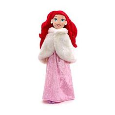 Disney The Little Mermaid Winter Dress Up Soft Toy Doll   Disney StoreThe Little Mermaid Winter Dress Up Soft Toy Doll - The underwater princess gets a seasonal makeover with our The Little Mermaid soft toy. Wearing a sparkly gown and a faux fur cape, she is the perfect playtime companion for a wintry afternoon indoors.
