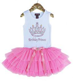 Birthday Princess Tutu Dress Rock Star Princess Dress by madgrrl