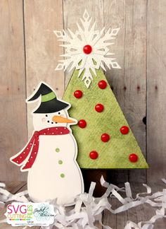 Snowman Tree Box-Using Tree Drawer Box and Snowman Witch