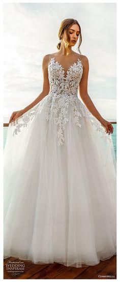 V Neck Wedding Dress, Top Wedding Dresses, Country Wedding Dresses, Wedding Dress Trends, Princess Wedding Dresses, Elegant Wedding Dress, Bridal Dresses, Romantic Princess, Ivory Wedding