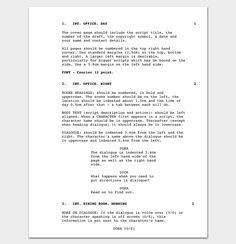 writing a short film outline