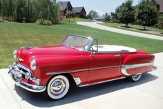 1953 Chevrolet Belair Convertible with continentale kit - Do you think it could happen? American Classic Cars, Old Classic Cars, Classic Trucks, Bugatti, Maserati, Ferrari Laferrari, Lamborghini Huracan, Classic Chevrolet, Chevrolet Bel Air