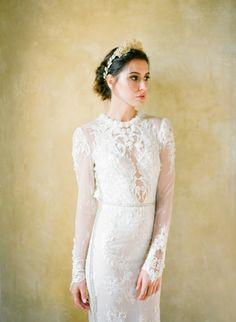 Photography: Jose Villa Photography - josevillablog.com Hair + Makeup: Amy Clarke - amyclarkemakeup.com Wedding Dress: Inbal Dror - www.inbaldror.co.il/en   Read More on SMP: http://www.stylemepretty.com/2016/02/29/dreamy-lilac-blush-wedding-inspiration/